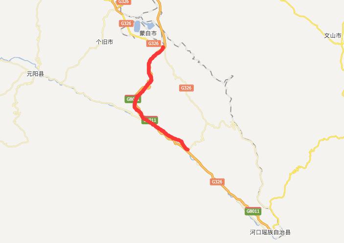 蒙新高速公路线路图示