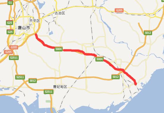 唐港高速公路线路图示